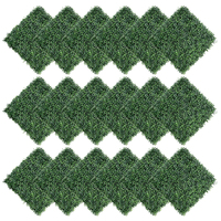 18PCS Artificial Boxwood Hedges Panels, Plant Ivy Fence Wall Cover, Outdoor Privacy Fence Screening Garden Decoration