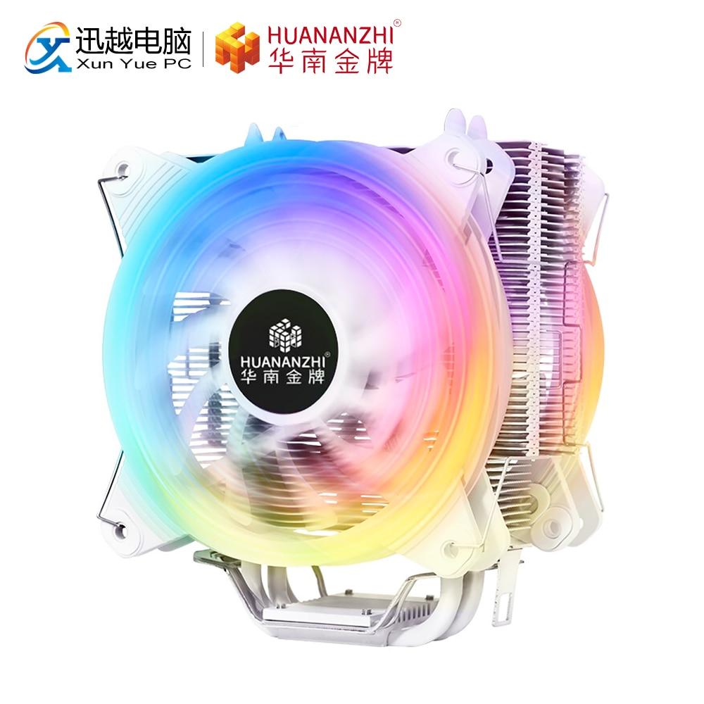 HUANANZHI A600 4 Heat Pipe RGB LED CPU Fan Radiator Cooler Heat Sink For Intel 115X 1366 2011 AMD Platform 120mm PWM PC Fan