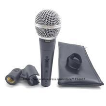 ميكروفون سلكي طراز SM58 58LC SM58LC احترافي ديناميكي كاريوكي محمول باليد ذو جودة عالية ميكروفون صغير ميكروفونو