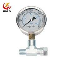 1PC Hochdruck Airless Sprayer Manometer T Rohr Kupplung Barometer Farbe Spritzen Maschine Druck Display Universal
