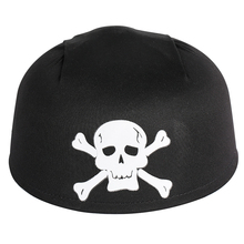 Black Caribbean Pirate Hat White Skull Halloween Crossbone Captain Head Accessories Cosplay Party Dress Unisex Adult Hats Cap