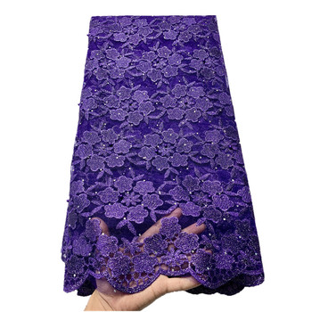 2020 Newest French Net Lace Fabrics with Stones Latest Mesh African Lace Fabric Tulle Lace Wedding French Lace Fabric