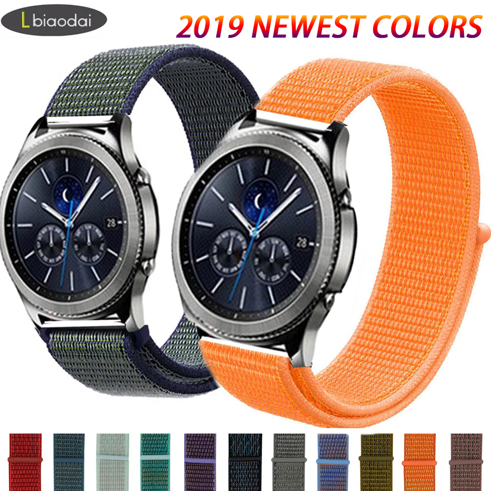 Gear S3 Frontier Nylon Strap For Samsung Galaxy Watch 46mm Huawei Watch Gt2 46mm 42mm Correa Active 2 Strap 20/22mm Watch Band