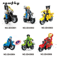 Hot Sale Spiderman Iron Ant Man Figure Motorcycle Super Hero Model Cap Black Panther Building Blocks Set Model Kits JM126 sermoido sale spiderman iron man captain america superman figure motorcycle super hero model cap building blocks set model kits