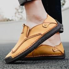 Hommes mocassins chaussures en cuir décontracté hommes mocassins en cuir véritable peau de vache mocassins bas