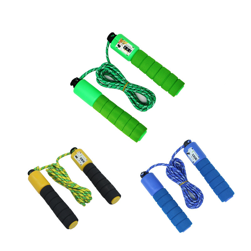 Hot Sales Students The Academic Test For The Junior High School Students Anti-slip Sponge Count Jump Rope Fitness PVC Cord Sport