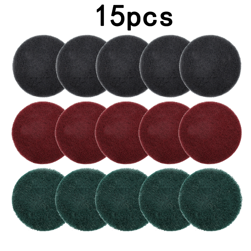 Hook And Loop Scouring Pads Tubs Sinks Tile Scrubber Home Kitchen Cleaning Disc