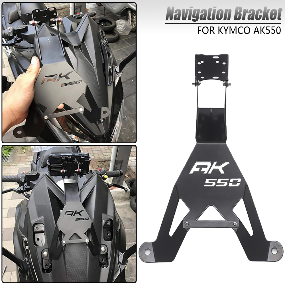 New Motorcycle Accessories Bracket mobile phone GPS board bracket mobile phone holder USB For <font><b>KYMCO</b></font> <font><b>AK</b></font> <font><b>550</b></font> AK550 ak550 image