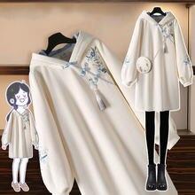 Весеннее Новое Женское плотное платье свитшот женское средней