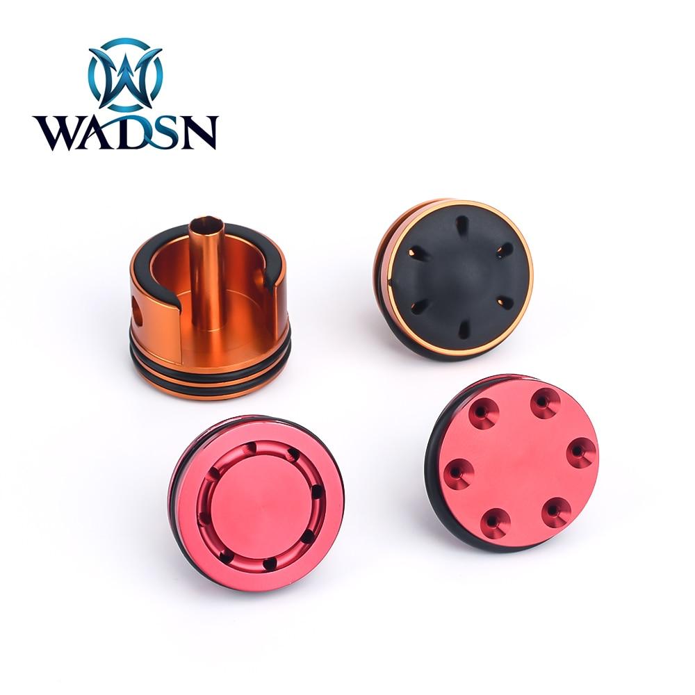 WADSN Airsoft-Cabezal de pistón de aluminio CNC, juego de culata silenciosa para Caja de cambios AEG V2, accesorios de Paintball de caza, 6/8 agujeros