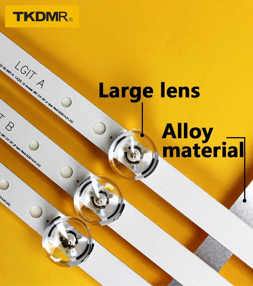 3 PCS*6Lamps 590mm LED Backlight Strip Bar Compatible For LG 32LB561V UOT A B 32 INCH DRT 3.0 32 A B 6916l-2223A 6916l-2224A