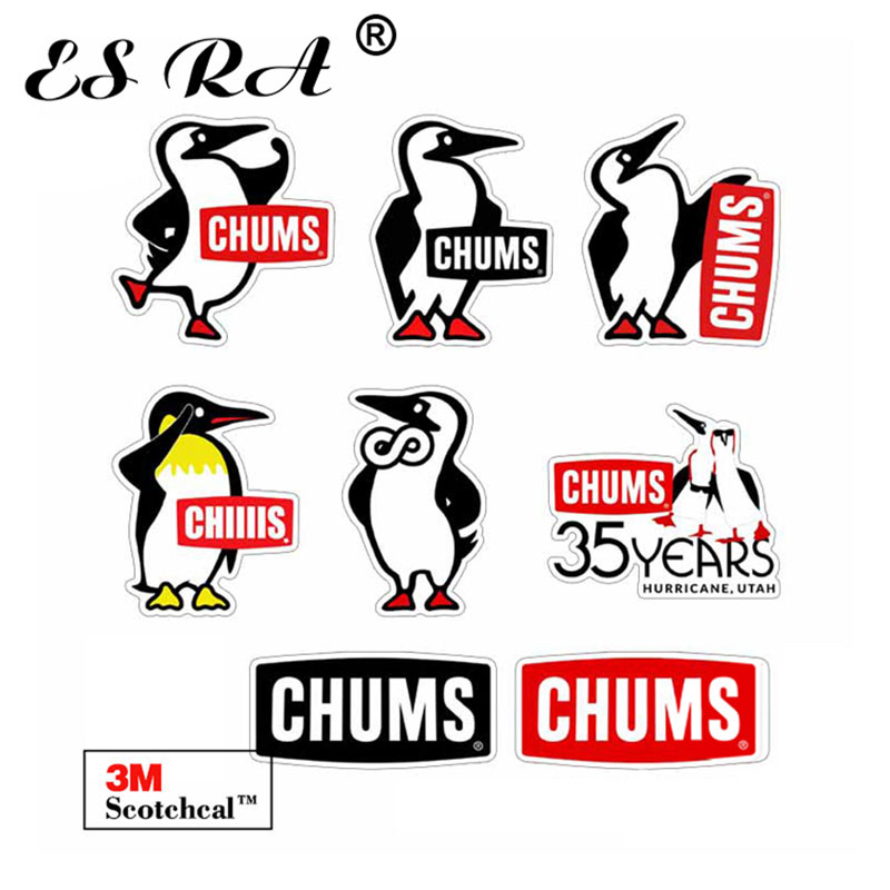 Brand Stickers Cute Penguin Outdoor Logo Decal Camping Pegatinas Laptop Decals Waterproof Suitacase Bicycle Pitcher Motor