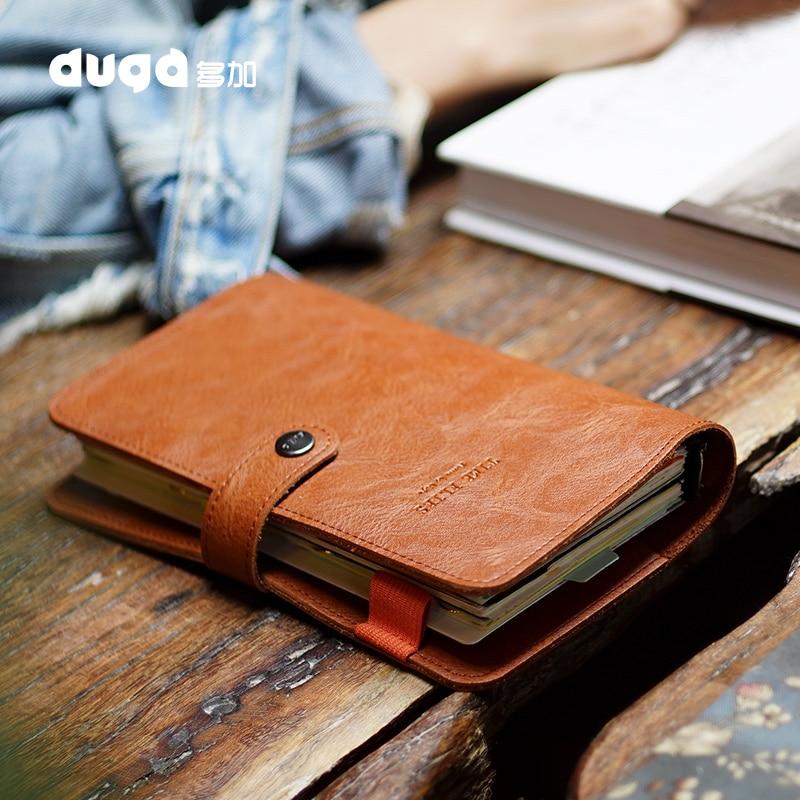 Agenda 2019 retro vintage capa de couro loose-leaf caderno nota livro substituível papel viajante bloco de notas artigos de papelaria suprimentos
