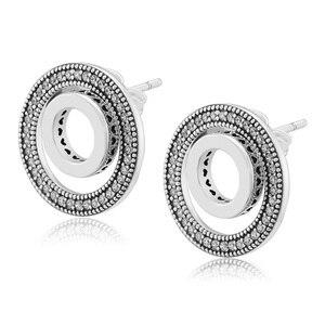 Image 5 - Forever Handtekening Oorbellen Clear Cz 925 Sterling Zilveren Sieraden Voor Vrouw Make Up Mode Vrouwelijke Oorbellen Partij Sieraden