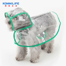 Transparent Dog Raincoat Waterproof Puppy Pet Rain Coat Cloak Clothes for Teddy Schnauzer Small
