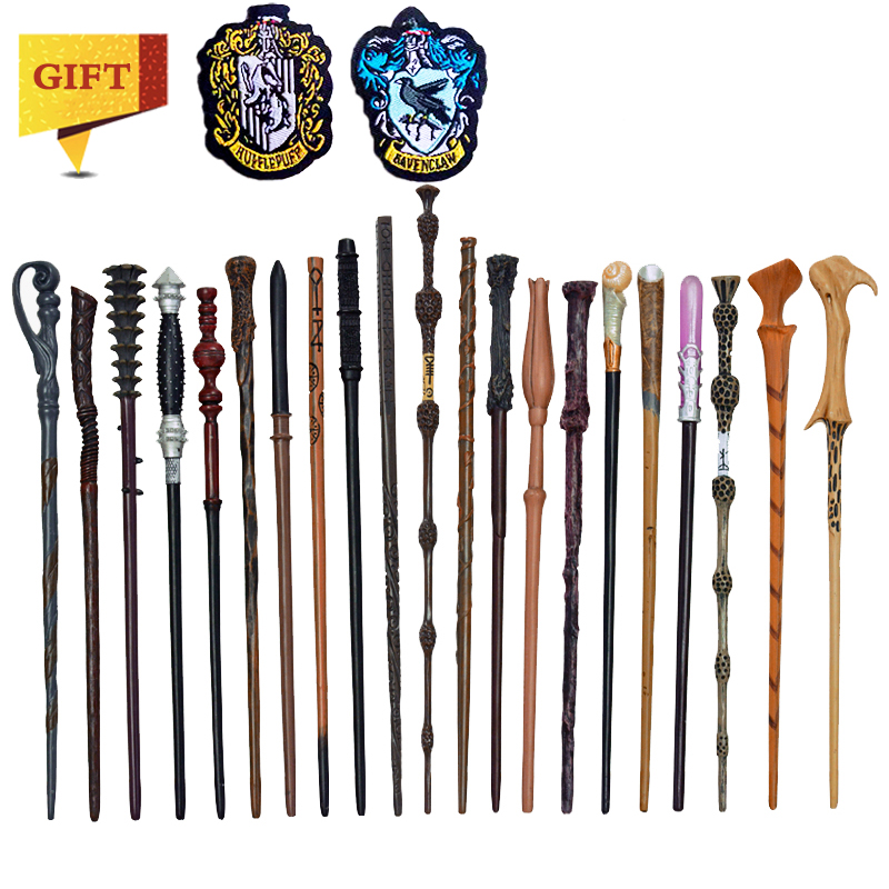 27 Kinds Of Metal Core Potters Magic Wands Cosplay Voldemort Hermione Magical Wand  Cloth Label As Bonus Without Box