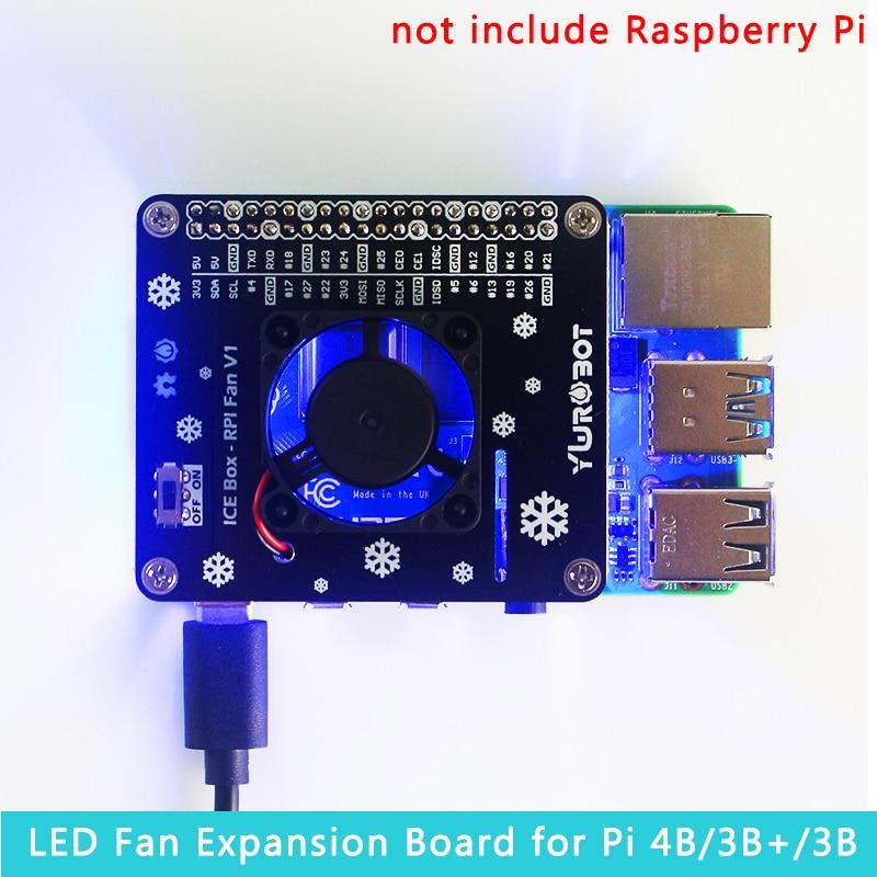 Raspberry Pi LED Cooling Fan Module GPIO Expansion Board Compatible Fpr Raspberry Pi 4 Model B / 3B+ / 3B / 3A+