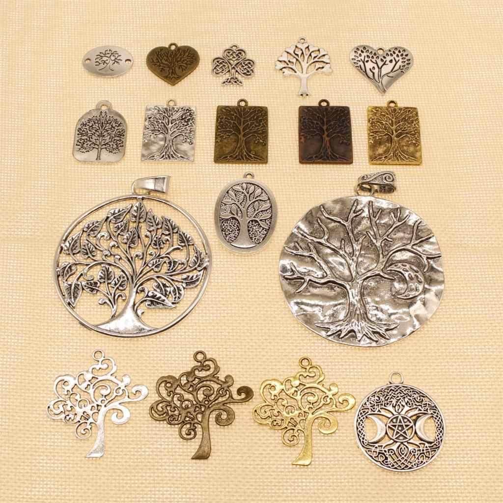 8 ชิ้นอุปกรณ์สำหรับวัสดุ Tree Of Love Life Charms HJ191