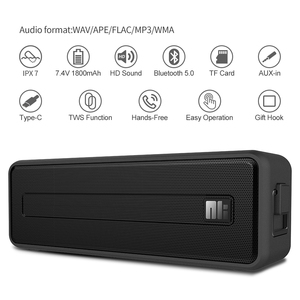 Image 2 - Bluetooth Колонка NILLKIN IPX7 Водонепроницаемая портативная уличная Колонка Bluetooth 5,0 Беспроводная стерео музыка объемный громкий динамик s