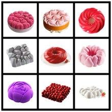 SHENHONG Multiple Shapes Silicone Cake Decorating Mold For Baking Mould Dessert Mousse bakvormen Pastry Pan Bakewar Tools