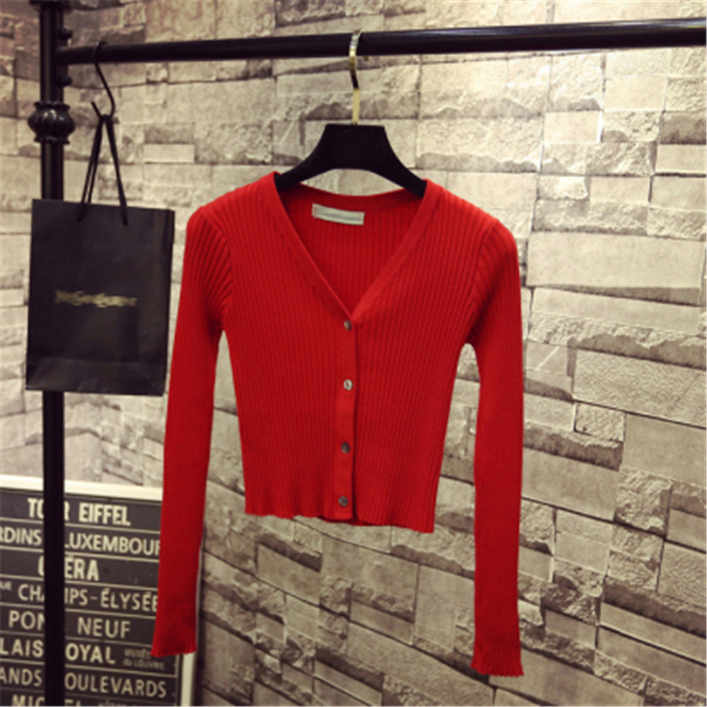 Korean Fashion Spring Newly Patchwork Sweaters Women Cardigans 2020 Slim Ladies Knitted Sweater Long Sleeve Buttons Sweater 1540 6