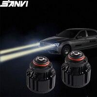 Sanvi New S113W Laser lens Headlight Bulb 9005 High Beam Moudule H11 Laser fog Light Spotlight