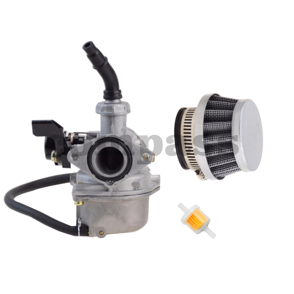 PZ19 <font><b>Carburetor</b></font> Hand Choke with Air Filter for Chinese 50cc <font><b>70cc</b></font> 90cc 110cc 125cc ATV Scooter Dirt Bike Motorcycle image