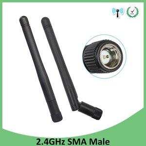 Image 1 - 10pcs 2.4 ghz wifi 안테나 2dbi 3dbi 공중 sma 남성 커넥터 wi fi antena 2.4 ghz antenne wifi 무선 라우터 안테나