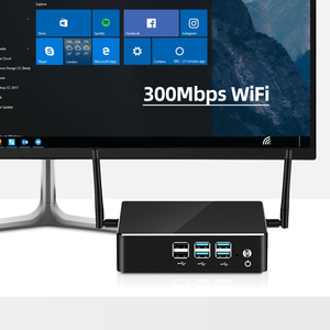 Image 4 - كمبيوتر مكتبي صغير إنتل كور i7 7500U i5 7200U i3 7100U 4K UHD ويندوز 10 لينكس HDMI VGA واي فاي جيجابت إيثرنت 6 * USB HTPC