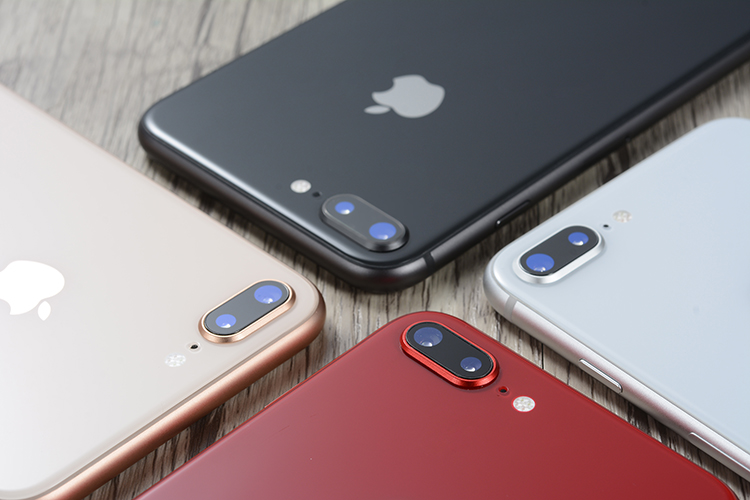 Original apple iphone 8 plus hexa núcleo ios 3gb ram 64-256gb rom 5.5 polegada 12mp impressão digital 2691mah lte telefone móvel 6