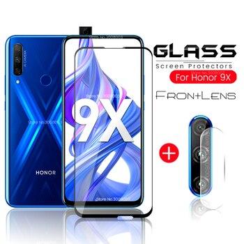Перейти на Алиэкспресс и купить Объектив камеры 9x стекло 2-в-1 защитное стекло на honor 9x защита экрана на honor9x honor 9x Премиум 9 x stk-lx1 6,59''