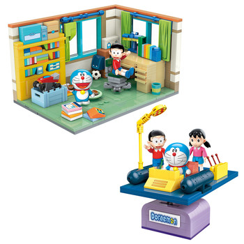 Classic Cartoon Anime Doraemon Nobita's Room Time Machine Building Blocks Bricks Sets Movie Dolls Kids Toys For Children Gift 1 sets kendo new lele swordsman ninjagoed movie kai lloyd sensei wu snake bronk zane nya blocks accessories gift kids toys