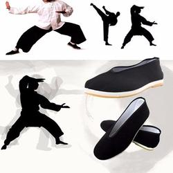 Kwaliteit Zwart Katoenen Schoenen mannen Traditionele Chinese Kung Fu Katoenen Doek Wing Chun Tai-chi Martial Art Oude beijing Casual Schoenen