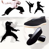 Quality Black Cotton Shoes Men\'s Traditional Chinese Kung Fu Cotton Cloth Wing Chun Tai-chi Martial Art Old Beijing Casual Shoes