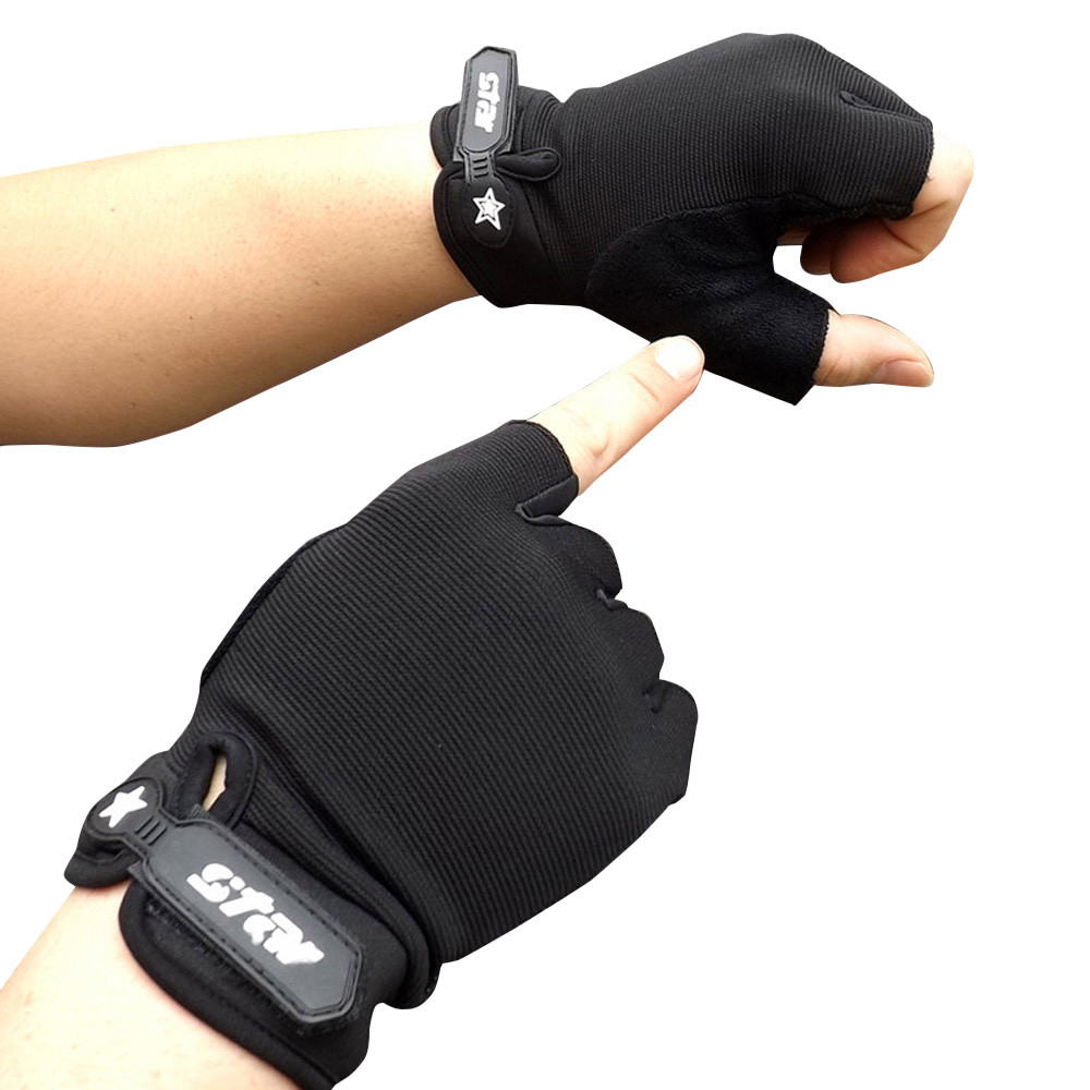 Men Antiskid Fitness Sports Military Tactical Half Finger Gloves Combat Hard Knuckle Driving Gloves Guantes Tacticos Перчатки