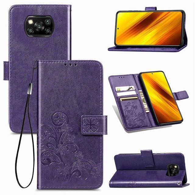 For Cover Xiaomi Poco X3 Pro Case Flip Magnetic Leather Phone Bag Case For Poco X3 Pro Cover For Redmi 9A 9C 9 Poco X3 Pro Case