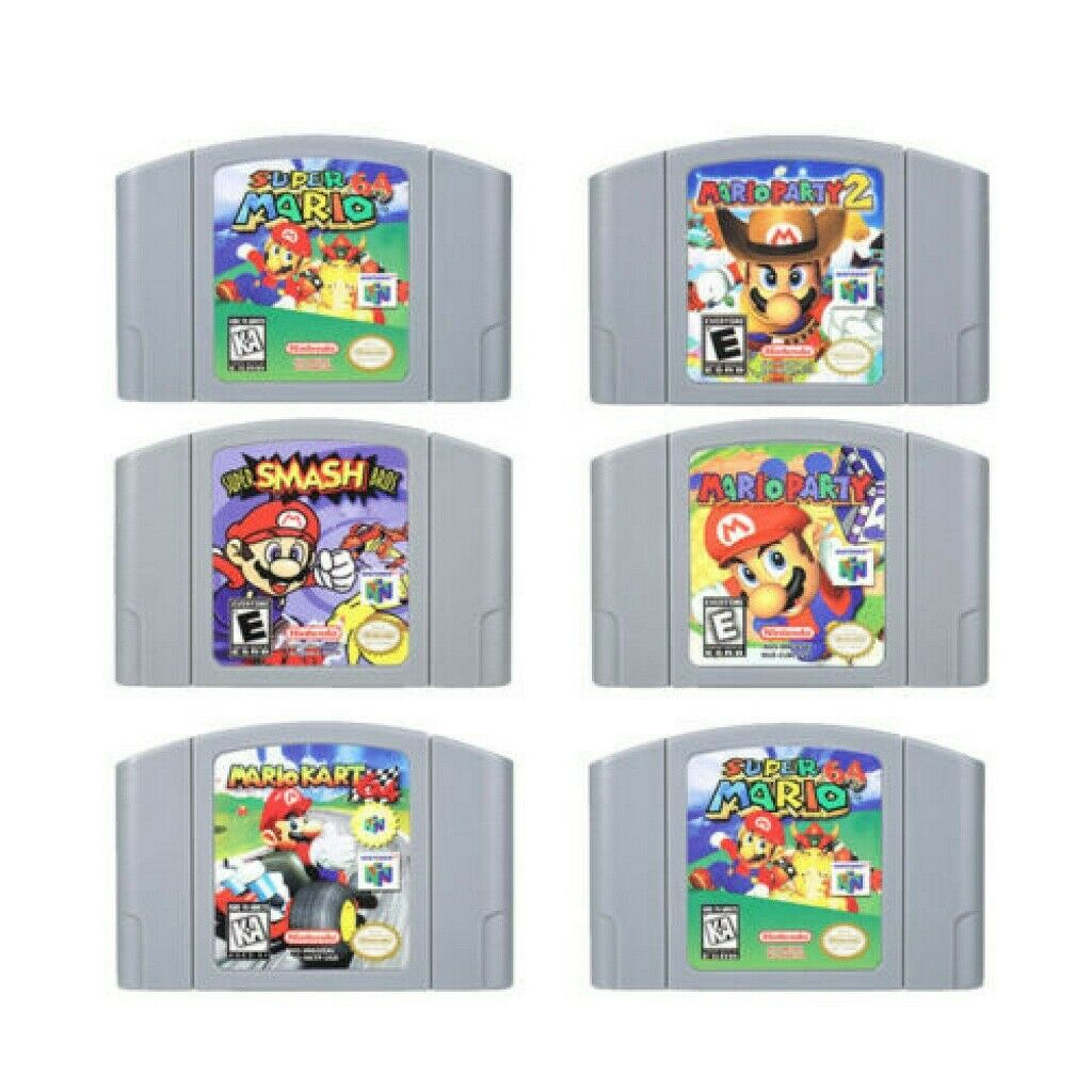 Super Smash Bros Mario Party 2 Marlo Kart Game Card 2 For Nintendo 64 Video Games Cartridges N64 Console US Version