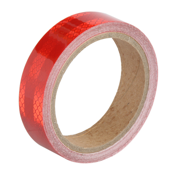 25MMX3M Red White Yellow Micro Prismatic Sheeting Reflective Tape Stickers Bike Reflector Stickers Bicycle Light Reflectors Tape 10