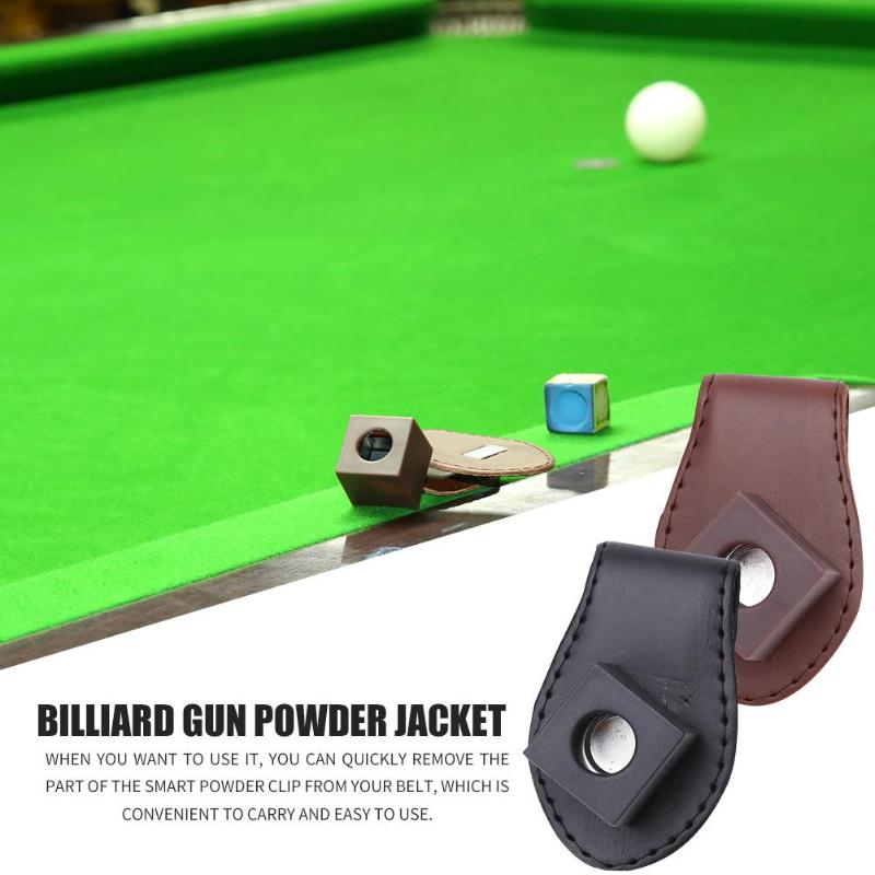 Dilwe Snooker Cue Chalk Holder Portable Magnetic Snooker Belt Clip Chalk Holder for Billiards Snooker
