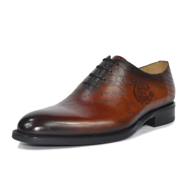 Leather Shoes Men Real Genuine Leather Custom shoes 3