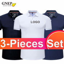Summer Casual Short-Sleeved Polo Classic Slim Shirt Breathable Quick-Drying 3 Piece Polo Shirt Can Choose Size And Color