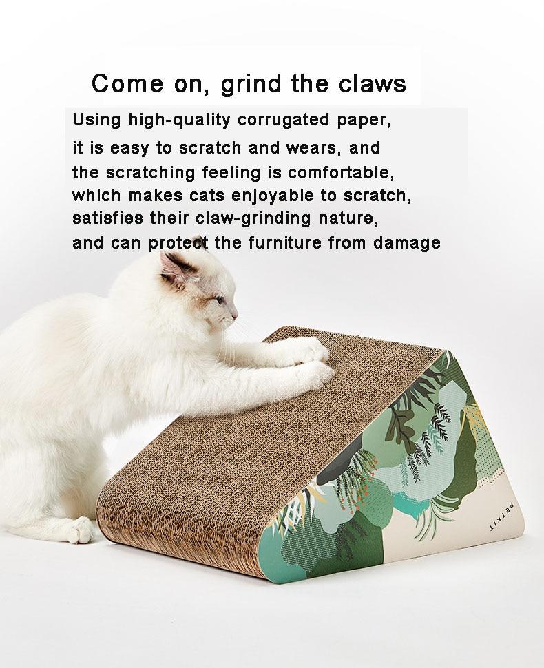 placa ninho garra moedor ondulado gato ninho