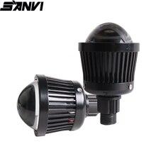 SANVI 2pcs K3 4300k  25W  Car LED Projector Lens  Headlight H7 9005 9006 H11 High Beam Light Spotlight Fog Light Car Light DIY