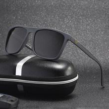 Lunettes de soleil polarisées pour hommes, marque de luxe, nouvelle mode, monture carrée, lunettes de soleil pour la pêche et la conduite, UV400 1909