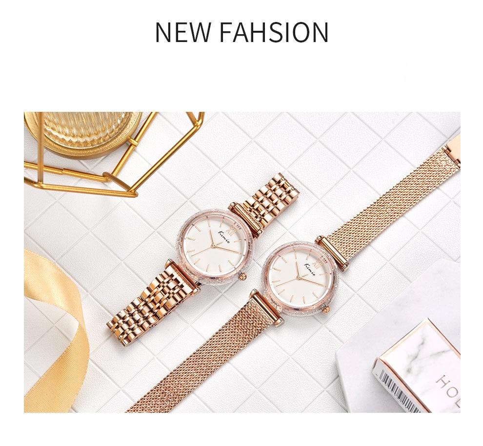 Kimio vestido feminino relógio de quartzo relógio