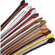 1 Pair 32cm Bag Strap Handle Rope Bags DIY Shoulder Handbag Accessories Round Ears PU Leather Hot Belts Replacement Bag Strap