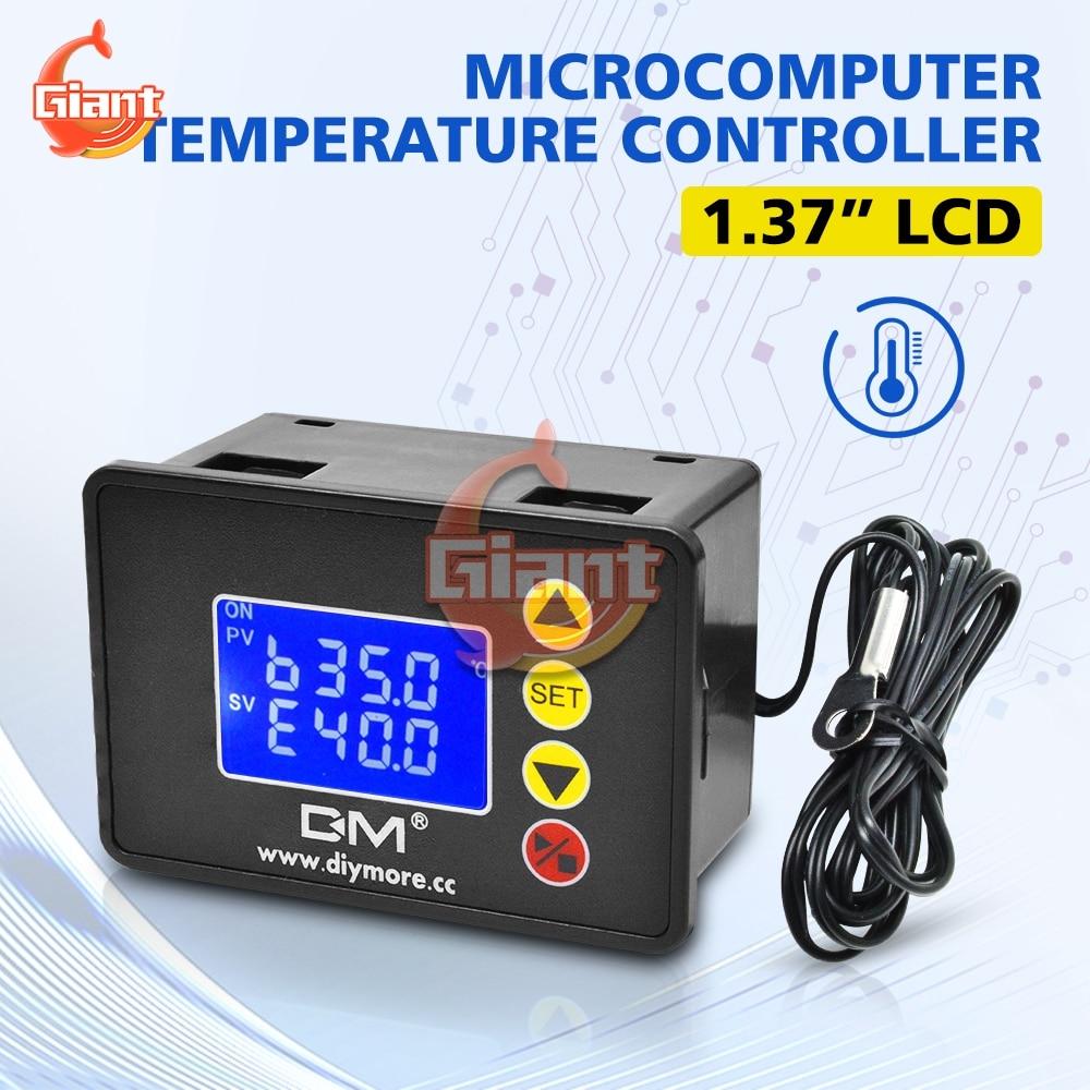 Pantalla LCD doble Digital de DM-1.37 pulgadas DC 12V 240W controlador de temperatura termostato refrigeración instrumentos de calefacción