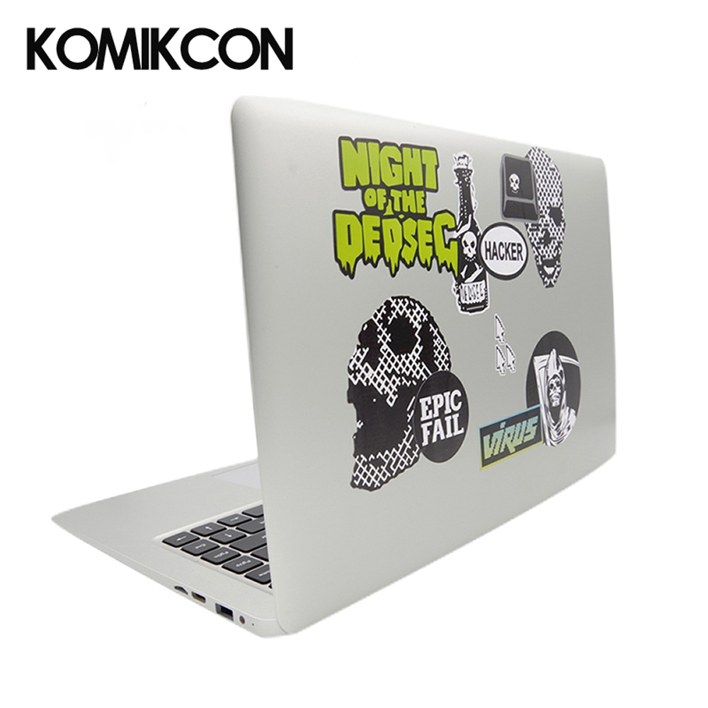 Watch Dog Computer Stickers Universal General Notebook Laptop Decal For Macbook Air Pro Retina 14 inch in Costume Accessories from Novelty Special Use