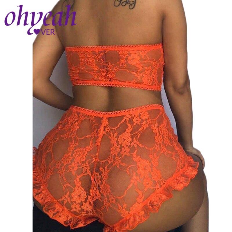 Comeondear Underwear Set Plus Size 5XL Lingerie Set Lace Strapless Sexy Bra Set Sex Trasparent Nightwear Women Set RM80869