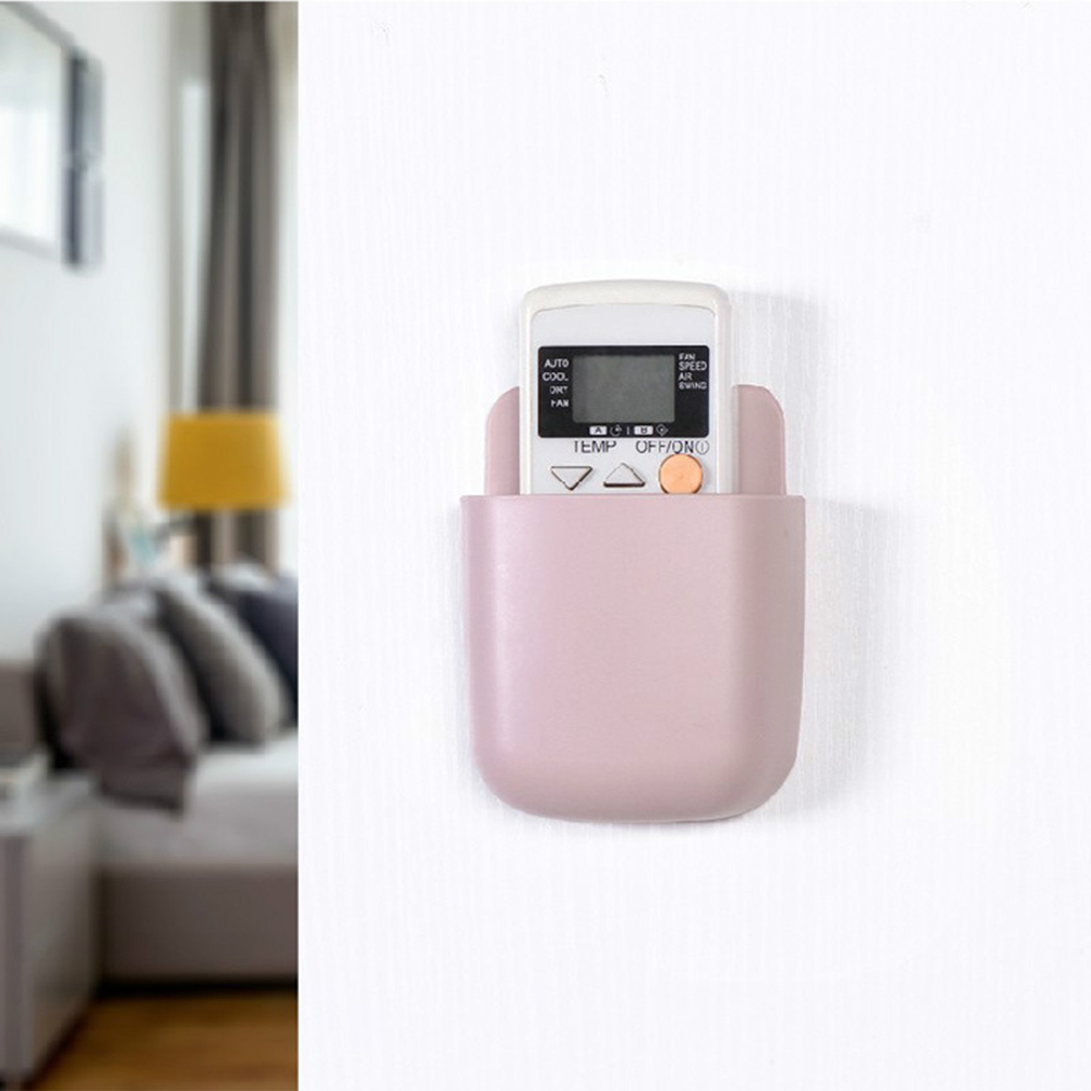 1piece Storage Box <font><b>Remote</b></font> Control <font><b>Air</b></font> <font><b>Conditioner</b></font> Storage Case Mobile Phone Plug <font><b>Holder</b></font> Stand Container Wall Mounted Organizer image